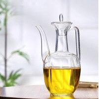 Kreatywny przezroczysty podgrzewany anty song Ewer szklany imbryk kursywa trochę herbaty żaroodporne szkło Ewer butelka na herbatę w Tace do herbaty od Dom i ogród na