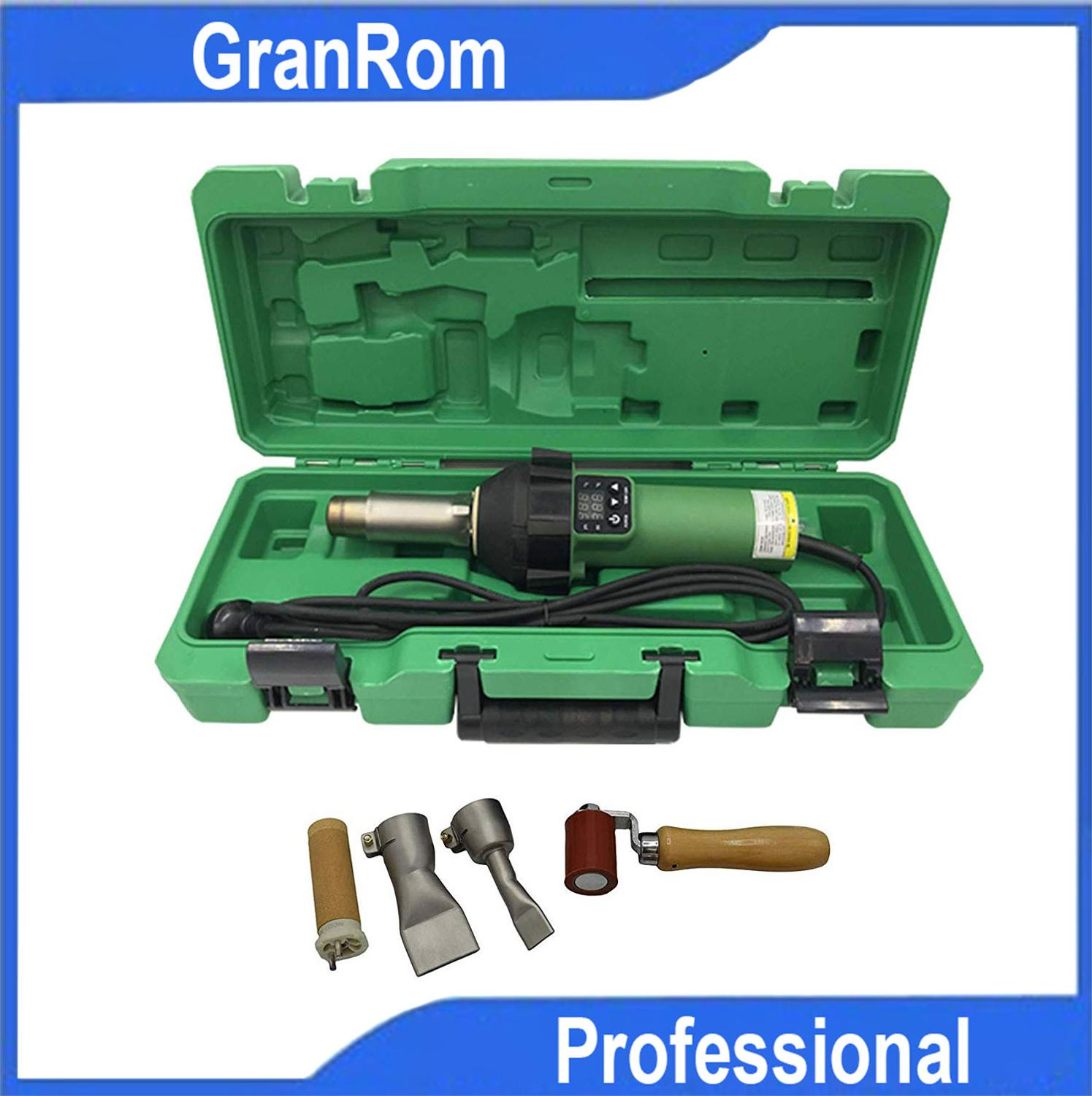 1600W Heating Gun Plastic Welding Gun Digitally Controlled Roofing Welding Hot Air Gun With Roofing Kit