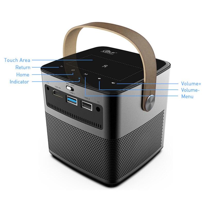 Новое поступление WZATCO T12 3D Full HD 1080P 4K проектор Android WIFI HDMI USB DLP умный проектор домашний кинотеатр портативный проектор