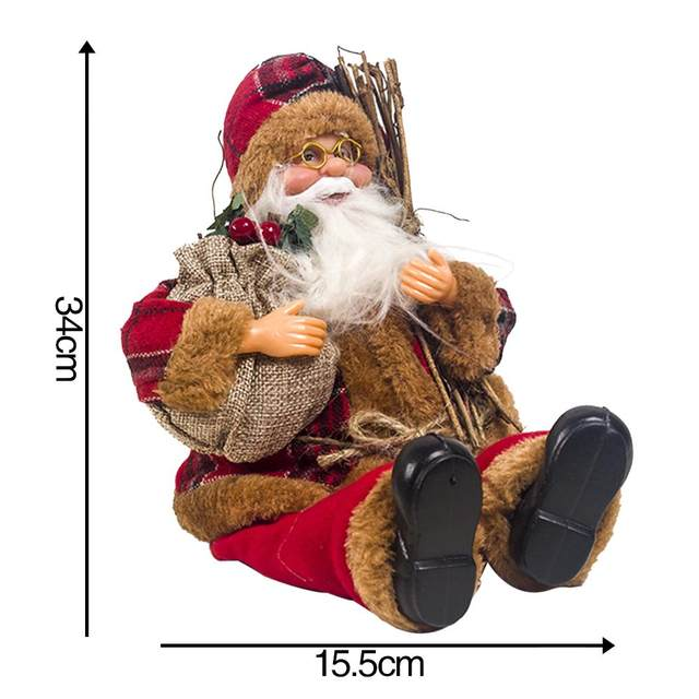 2019 Xmas New-Year Santa Claus Sitting Christmas Big Doll Fabric Kid Toys Gift Christmas Decorations For Home Table Ornament 17