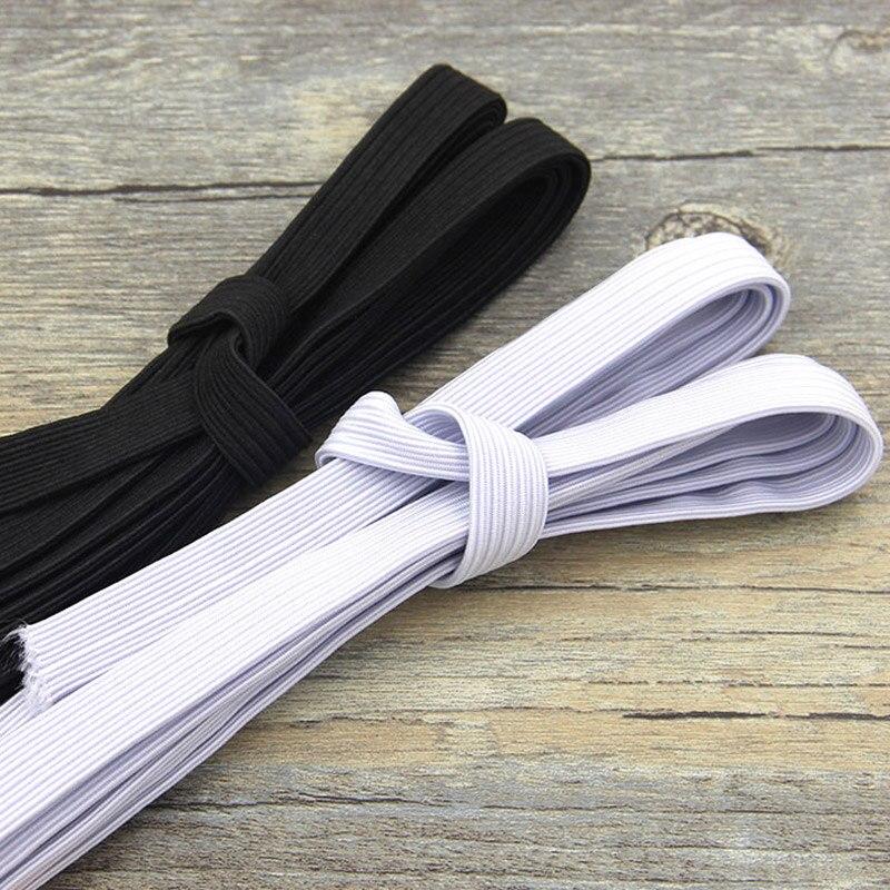 Accesorios de costura de banda elástico fuerte, cinta plana elástica, ropa interior para pijamas, lazos, suministros para manualidades DIY, ancho 3mm ~ 14mm