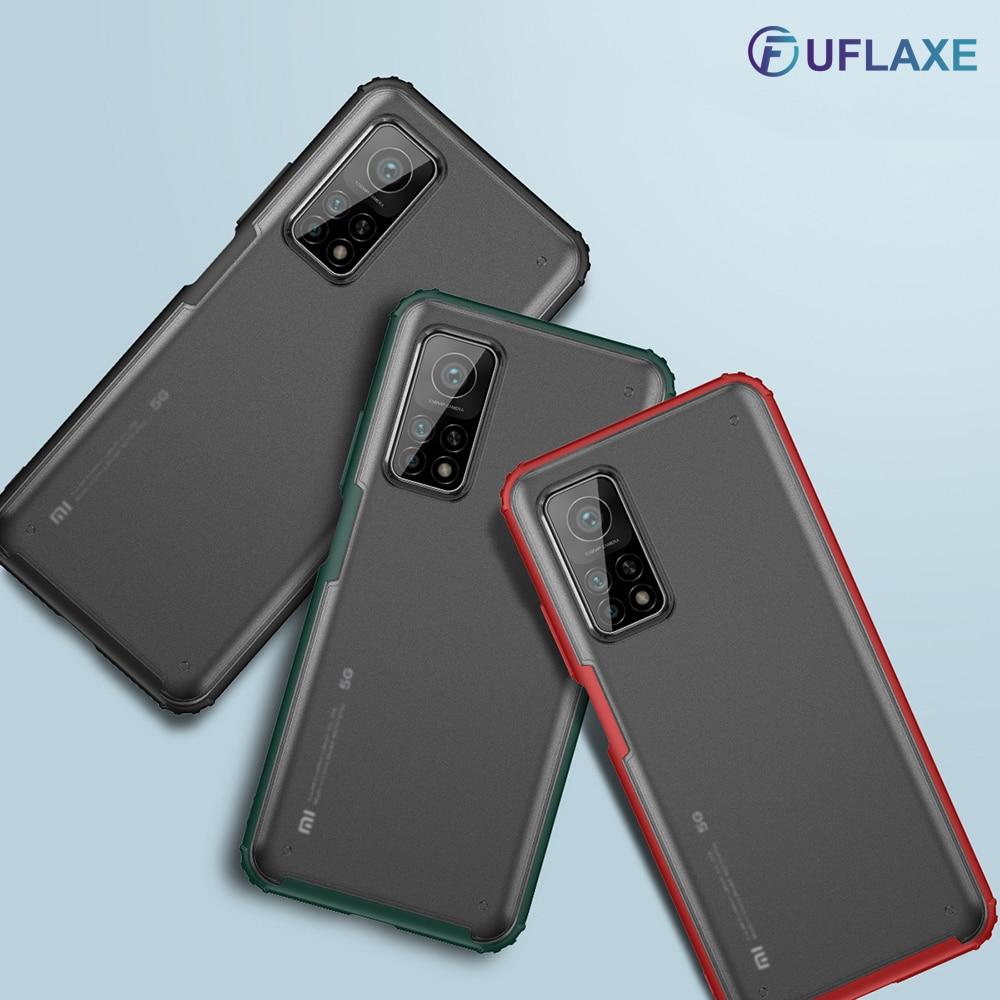 Ударопрочный жесткий чехол UFlaxe для Xiaomi Mi 10T Pro Lite 5G Poco M3, матовый прозрачный ультратонкий противоударный чехол HJ