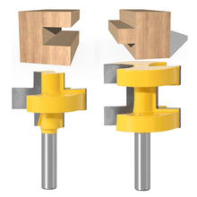 2PCS Metal 8mm Shank Router Bit Set T-Slot Square Tooth Tenon Woodworking Milling Tools Multipurpose Woodworking Tool Kit