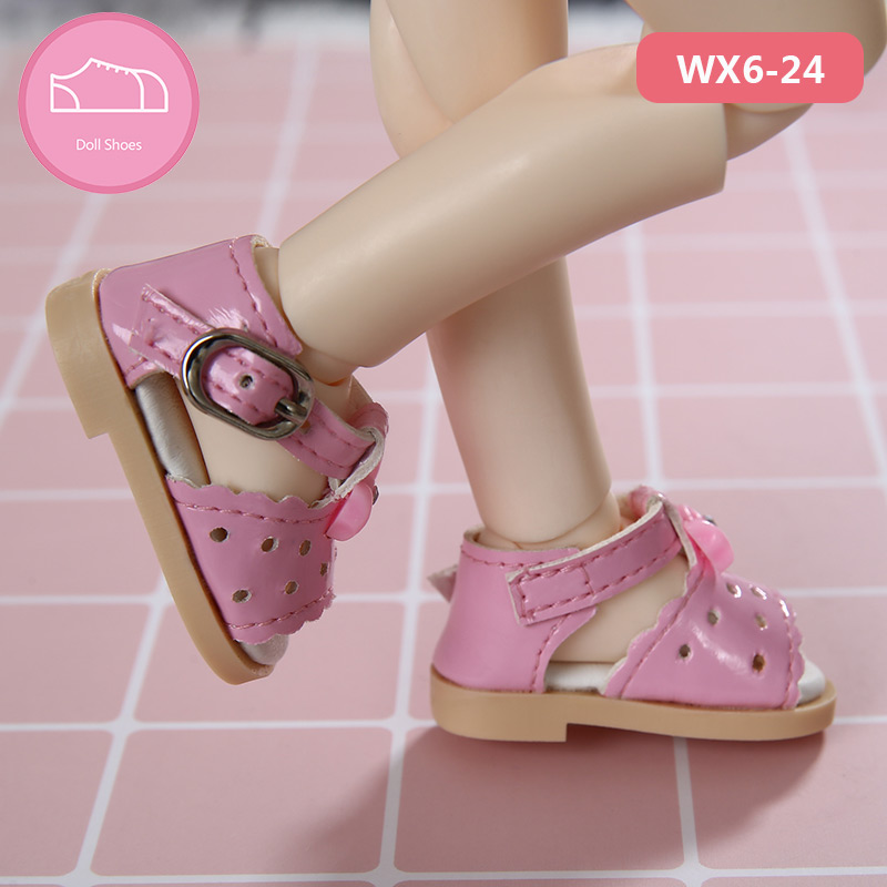 Shoes For BJD Doll 1/6 Sandals Shoes Shoes For IP YOSD BJD Dolls WX6-24 Length 4.8cm Linachuochuo Doll Accessories OUENEIFS Luod
