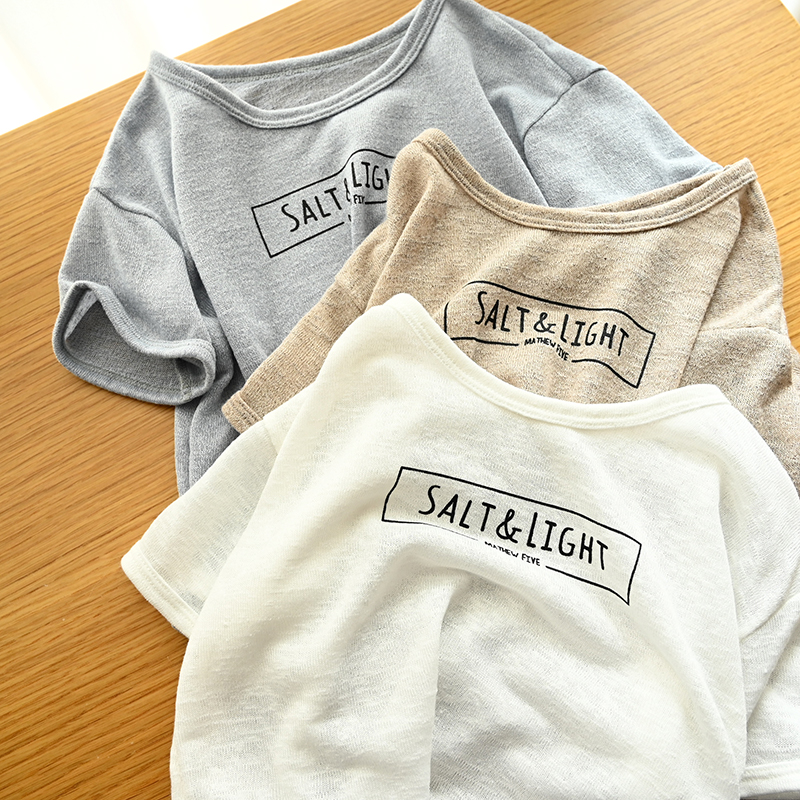 Children Cotton T shirt Summer Letter Unisex T shirt Casual Loose Boys&Girls Tops BC937 image