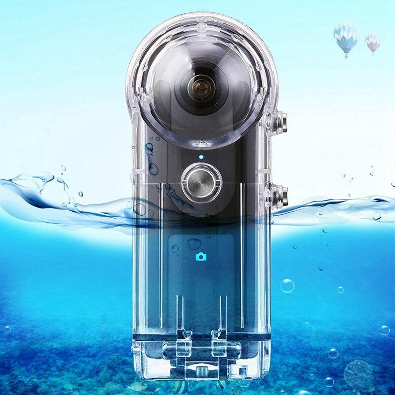 Chaude 3C-PULUZ 30M étui étanche pour RICOH Theta V/Theta S et SC360 360 degrés caméra accessoires boîtier protection de plongée