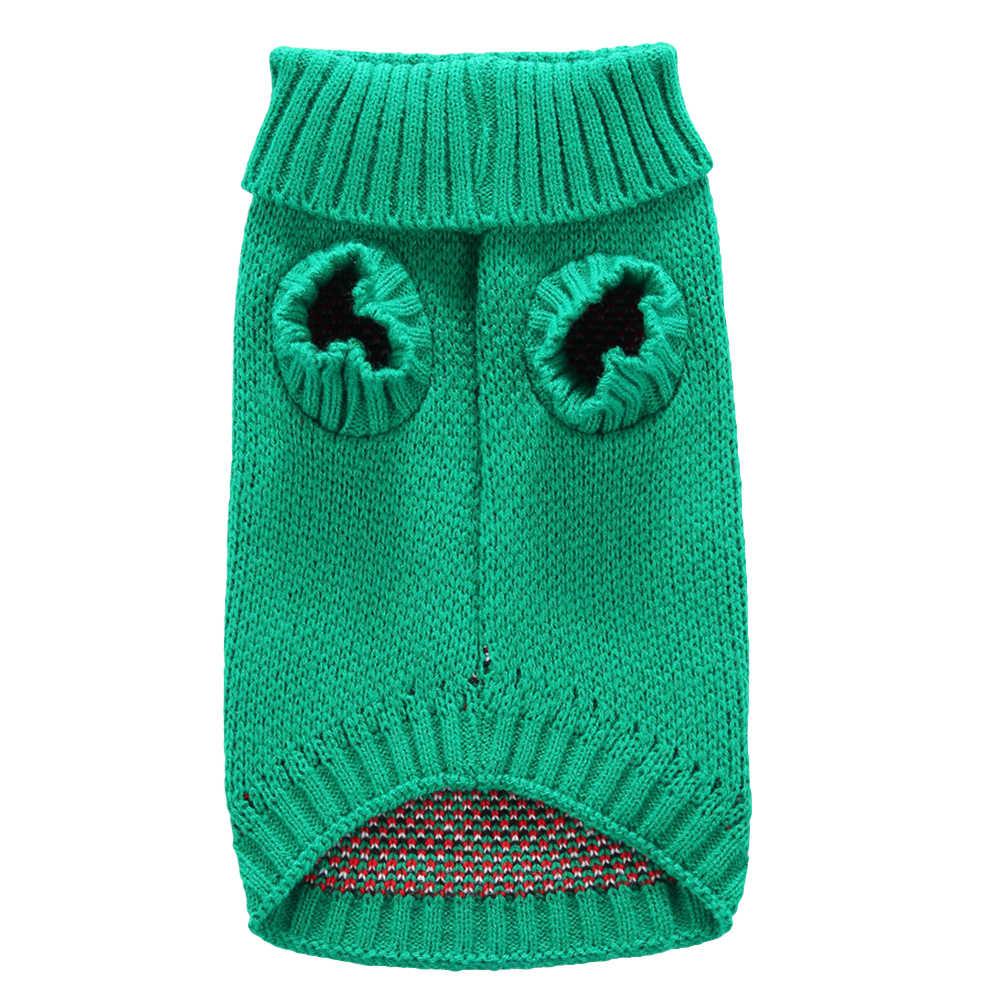 2019 Anjing Sweater Bernapas Hewan Peliharaan Pakaian Musim Dingin Kostum Santa Claus Jumper Hangat Anjing Sweater Natal Anjing Mantel Gaun