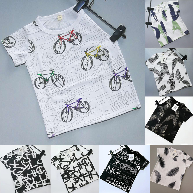 Boys 2020 Summer Tshirt Short Sleeve Tops Toddler Boy Girl Tee Shirts Baby Kids T-shirts For Children Boys Girls Clothes 2-7Y