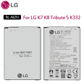 цена на Lg Original Phone Battery 2125 Mah BL-46ZH For Lg K7 K8 Tribute 5 AS330 K332 K350N K371 K373 K8V K89 LS675 LS
