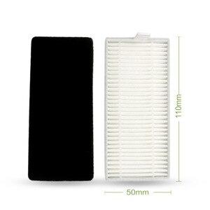 Image 2 - Fırçalar paçavra süngerleri toz filtresi zemin yedek süpürgesi elektrikli süpürge için NEATSVOR X500 süpürme temizleme aksesuarları