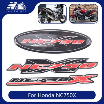 For Honda NC750X NC 750X Motorcycle Trunk Luggage Aluminum Case Panel 3D Stickers Decal Protector Fairing Emblem Badge Logo image