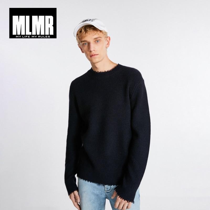 JackJones Men's Wool Sweater Ripped Pullover Top Menswear Basic 218425526