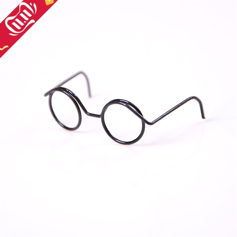 Great Collection 2PCS Fashion Round Frame Lensless Retro Cool Doll Glasses For BJD Doll 1/6 30cm