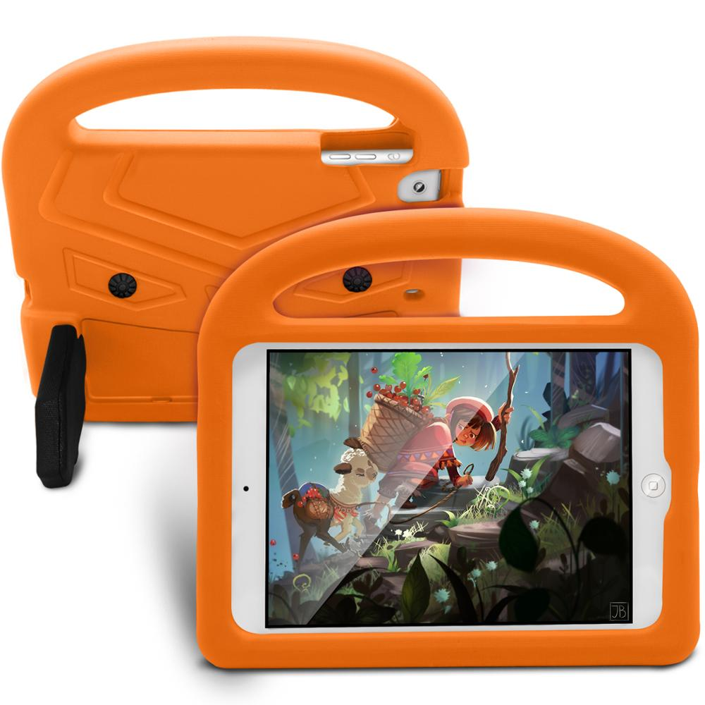 New Shockproof EVA Case For <font><b>iPad</b></font> mini 5 2019 Case A2133 A2124 hand-held Stand Cartoon Silicon Kids For <font><b>iPad</b></font> mini 5 2019 Cover image
