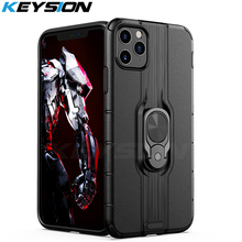 KEYSION Shockproof Armor Case For iPhone 11 Pro Max Stand Car Ring Phone back Cover for Apple
