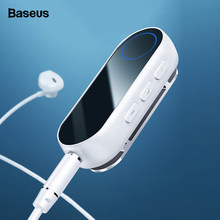 Baseus Bluetooth 5.0 Receiver For 3.5mm Jack Earphone Headphone AUX Wireless Adapter Bluetooth Audio Music Receiver Transmitter(China)