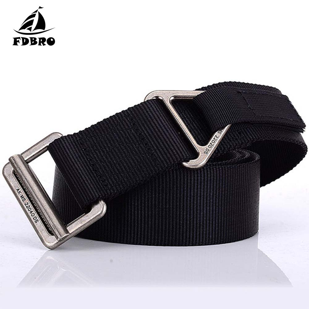 FDBRO Tactical Belt Military Steel Buckle Men 800D Nylon Army Combat Belts Heavy Duty Rigger Rappel Survival Waist Belt image