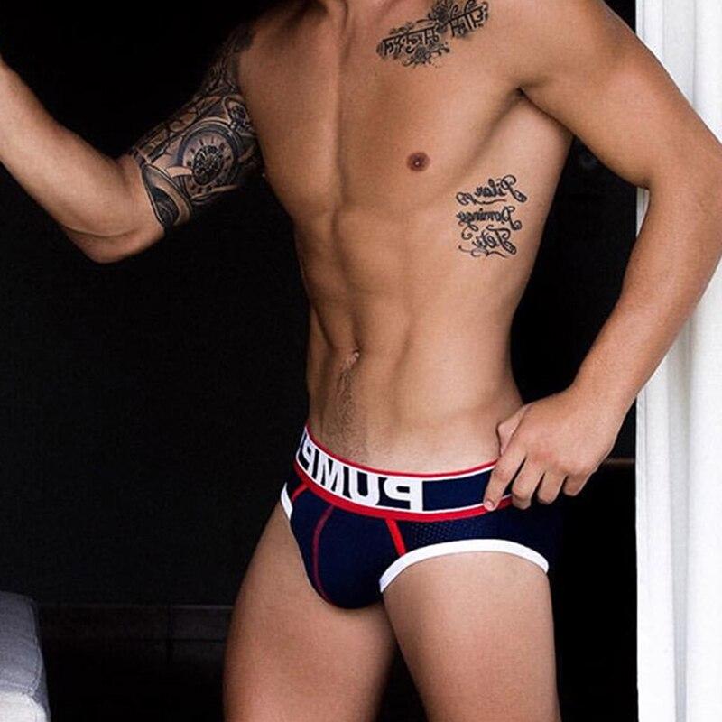 Soft Cotton Sexy Man's Underwear Briefs New Men's Briefs Bikini Gay Underwear Men's Lingerie Funny Men Underwear for Big Penis