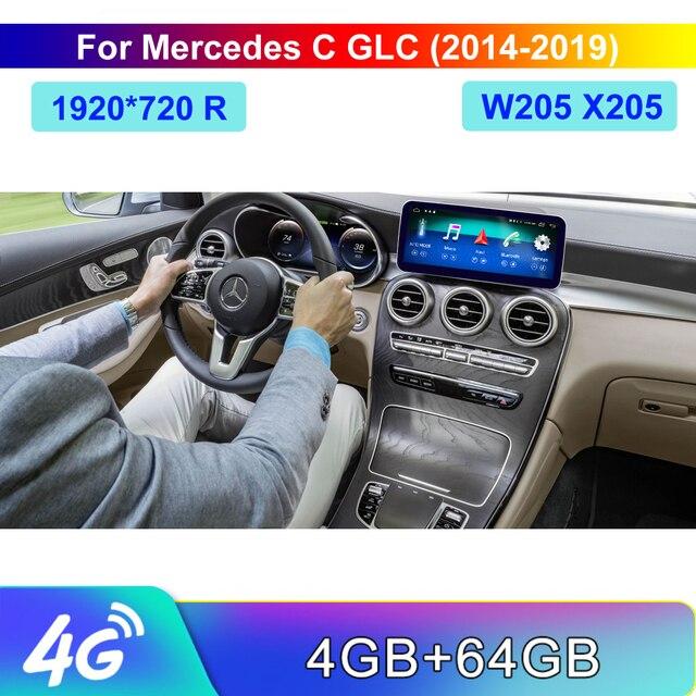 10.25 أندرويد 10 4 + 64G شاشة تعمل باللمس مشغل وسائط متعددة ستيريو عرض الملاحة لتحديد المواقع لبنز الخامس الفئة V260 2014 2018 W447