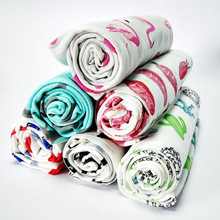 цена Cotton Baby Blankets For Newborns Kids Swaddle Envelope 90x90cm Bath Towel Newborn Swaddle Wrap Cute Flamingo Photography Props онлайн в 2017 году