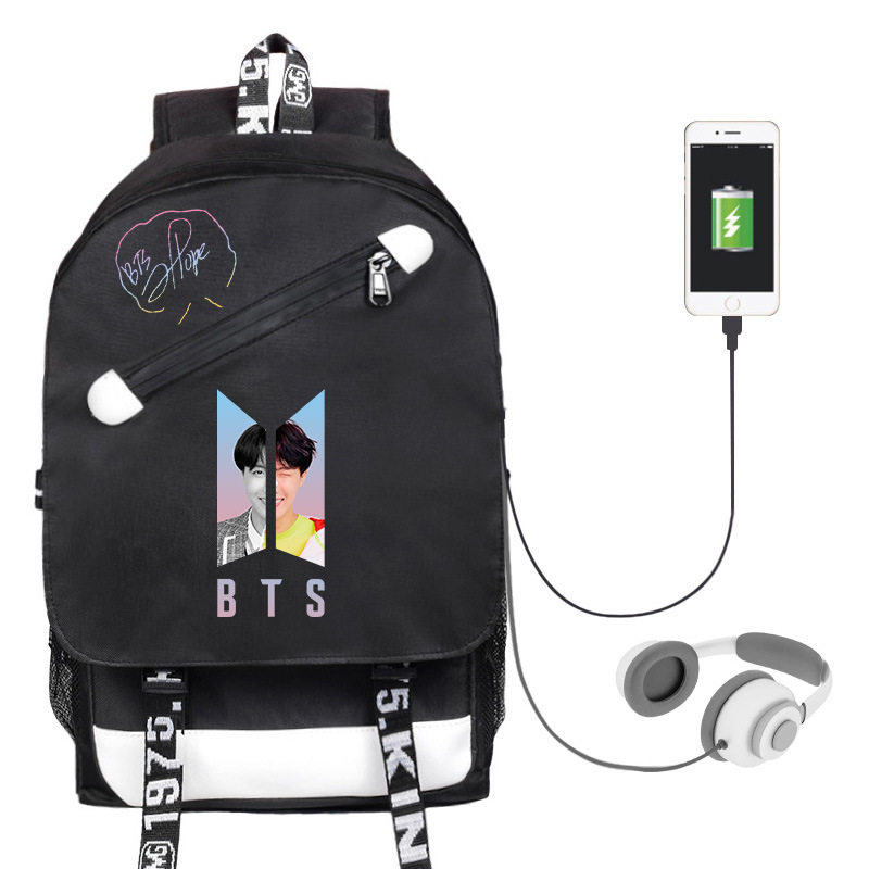 Backpack Laptop Bag Man USB Charging / Headphone interface schoolbag Laptop bag Large-capacity student bag Mochilas feminina image