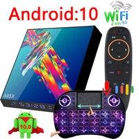 A95X R3 plus smart tv box Android 10 6k 2G 16G 4G 32G 64G 128G 2.4G e 5G WIFI supporto BT youtube Quad core mini media player