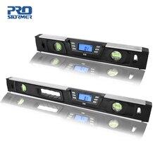 Elektronik dijital seviye İnklinometre İletki açı bulucu 40cm/60cm LCD ekran mıknatıslar ile Nivel dijital seviye PROSTORMER