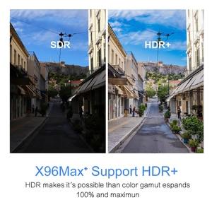 Image 3 - 안드로이드 9.0 S905x3 8K 스마트 미디어 플레이어 4 기가 바이트 RAM 32 기가 바이트 64 기가 바이트 rom을위한 X96Max TV 박스 셋톱 박스 2G16G QuadCore 2.4G & 5G 와이파이