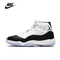 D'origine Nike Air Jordan 11 Concord Basketball pour hommes chaussures femmes haut de gamme confortable sport baskets en plein Air 378037-100