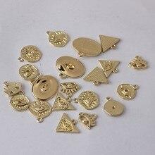 Pendentif en alliage de Zinc en métal doré, 10 pièces/lot, Mini breloques œil de démon, pour bricolage, fabrication de bijoux, accessoires