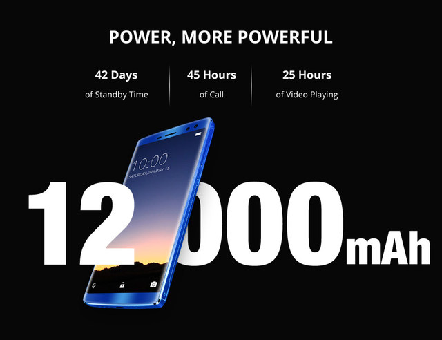 DOOGEE BL12000 Smartphone 12000mAh Fast charge 6.0'' 18:9 FHD Display MTK6750T Octa Core 4GB 32GB 16MP Camera Android 7.1 Phones 17