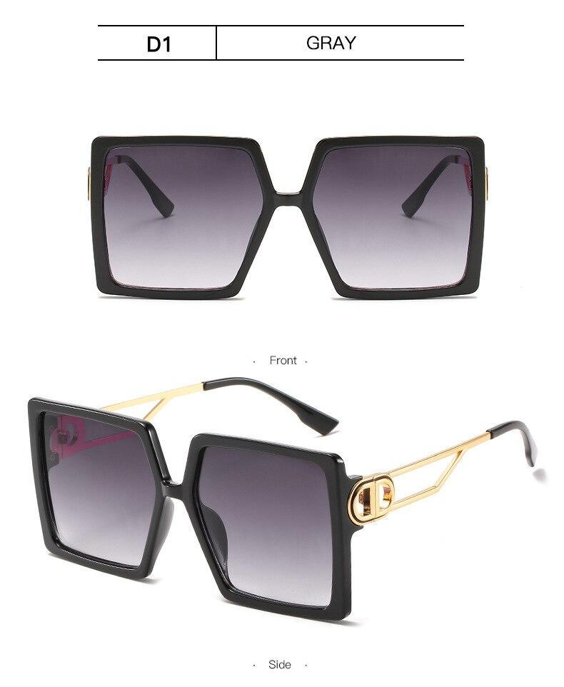 Fashion Sunglass Designer Luxury Brand Square Sunglasses Women Vintage Oversized 2021 trend Female Sun Glasses Shades For Women (15)