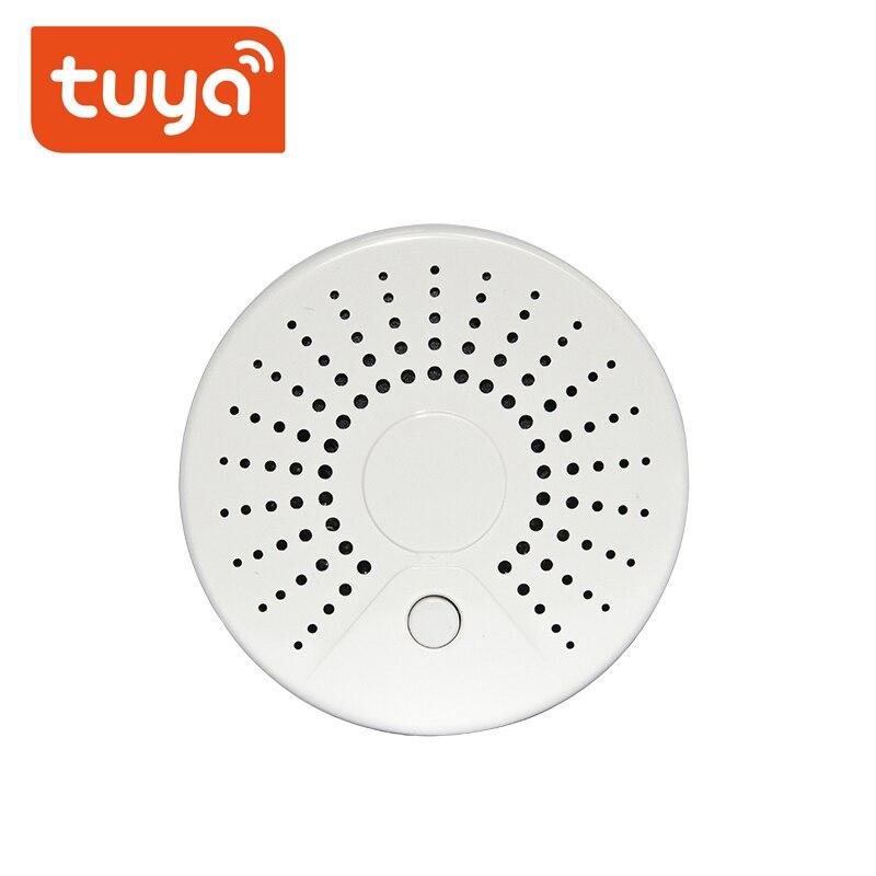 Беспроводная охранная сигнализация Tuya детектор дыма умный автономный WiFi датчик температуры дыма WiFi