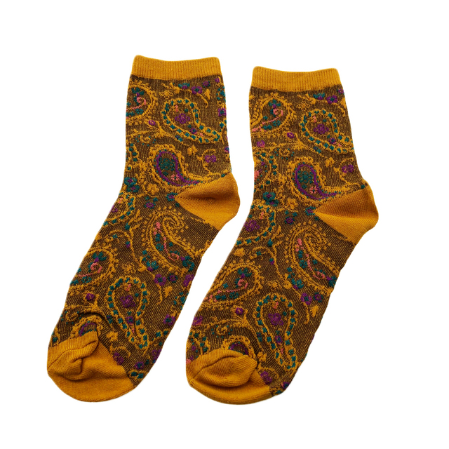 Jeseca 1 Pair Cotton Socks for Women Print Autumn Winter Warmer Sock Japanese Kawaii Girls Cute Sock for Ladies Christmas Gifts