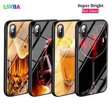 Black Cover Beer Wine Fashion for iPhone X XR XS Max for iPhone 8 7 6 6S Plus 5S 5 SE Super Bright Glossy Phone Case black cover fashion black wolf for iphone x xr xs max for iphone 8 7 6 6s plus 5s 5 se super bright glossy phone case