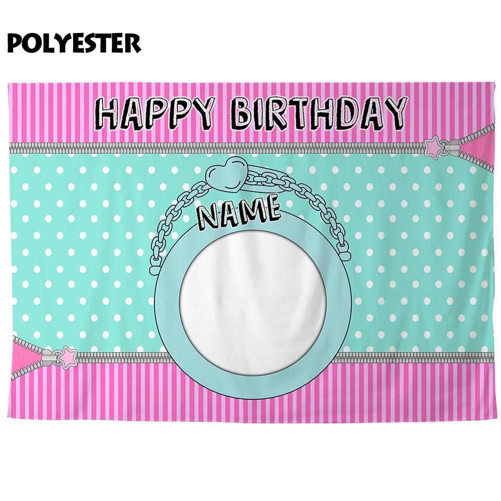 Allenjoy tło fotograficzne zipper kropki urodziny strona dekoracji dodaj zdjęcie spersonalizowane photophone tło photocall