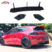 3PCS ABS Rear Lip Diffuser Trim Covers for Volkswagen VW Scirocco R 2009 2017 Fins Shark Style Bumper Protector Car Styling