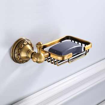 Sturdy Antique Soap Dish Metal Rack Soap Basket Soap Box Tray Holder Wall Mounted Storage Case Bathroom Accessories leyden new brass oil rubbed bronze soap dishes ceramic soap basket wall mounted shower soap dish holder bathroom accessories