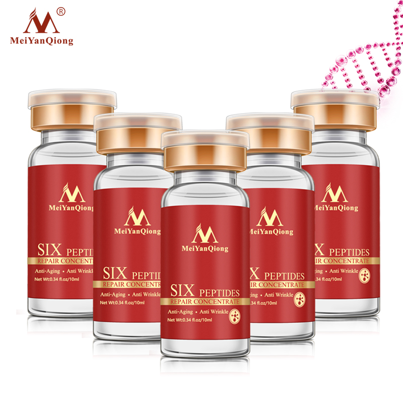 5pcs MeiYanQiong Hexapeptide Anti-aging Firming Skin Shrink Pore Whitening Skin Anti-drying Moisturizing Skin Full Of Elasticity
