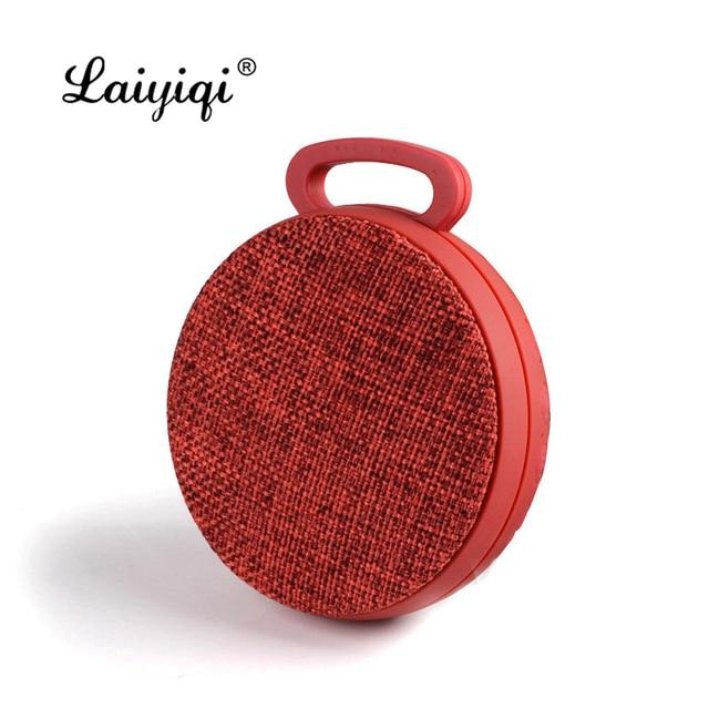 Laiyiqi 2019 circulaire tissu art haut-parleur bluetooth portable crochet subwoofer sans fil boom boîte mains libres appel caixa de som c3 dia