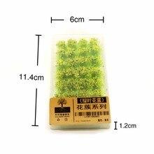 Мини Diy модель цветок кластер трава Tuft Дикая роза цветок для Diorama строительство дорога пейзаж компоновка материал