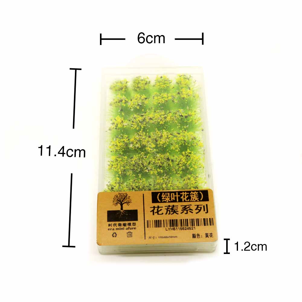 Mini Diy Model Flower Cluster Grass Cluster Grass Tuft Wild Rose Flower For Diorama Building Road Landscape Layout Material