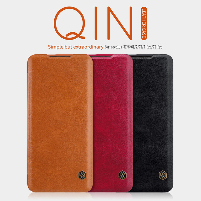 For OnePlus 8 Case Funda oneplus Nord case oneplus 7T case NILLKIN Qin Wallet Flip Leather Case For OnePlus 8 pro/7/7pro case
