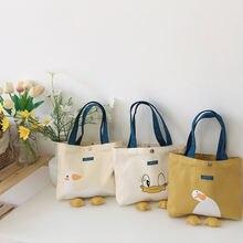 Симпатичная Холщовая Сумка для девушек Повседневная сумка с
