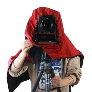 Image 4 - eTone Professional Shade Dark Cloth Focusing Hood For 4x5 Large Format Camera Wrapping darkroom cloth inside black