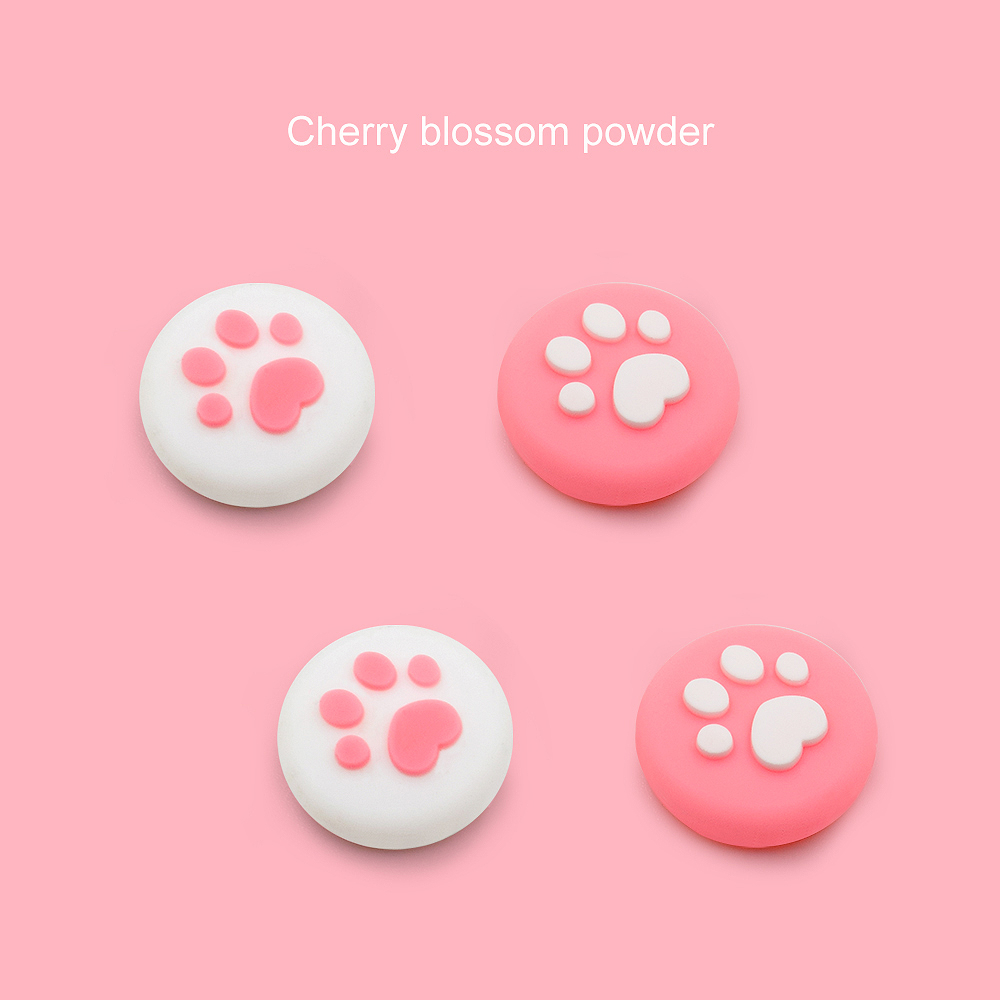 Nintend Switch Lite Joystick Pink Cases Cat Paw Thumb Grip Button CoverFor Nintendo Switch Replacement Shell Accessories Kawwaii