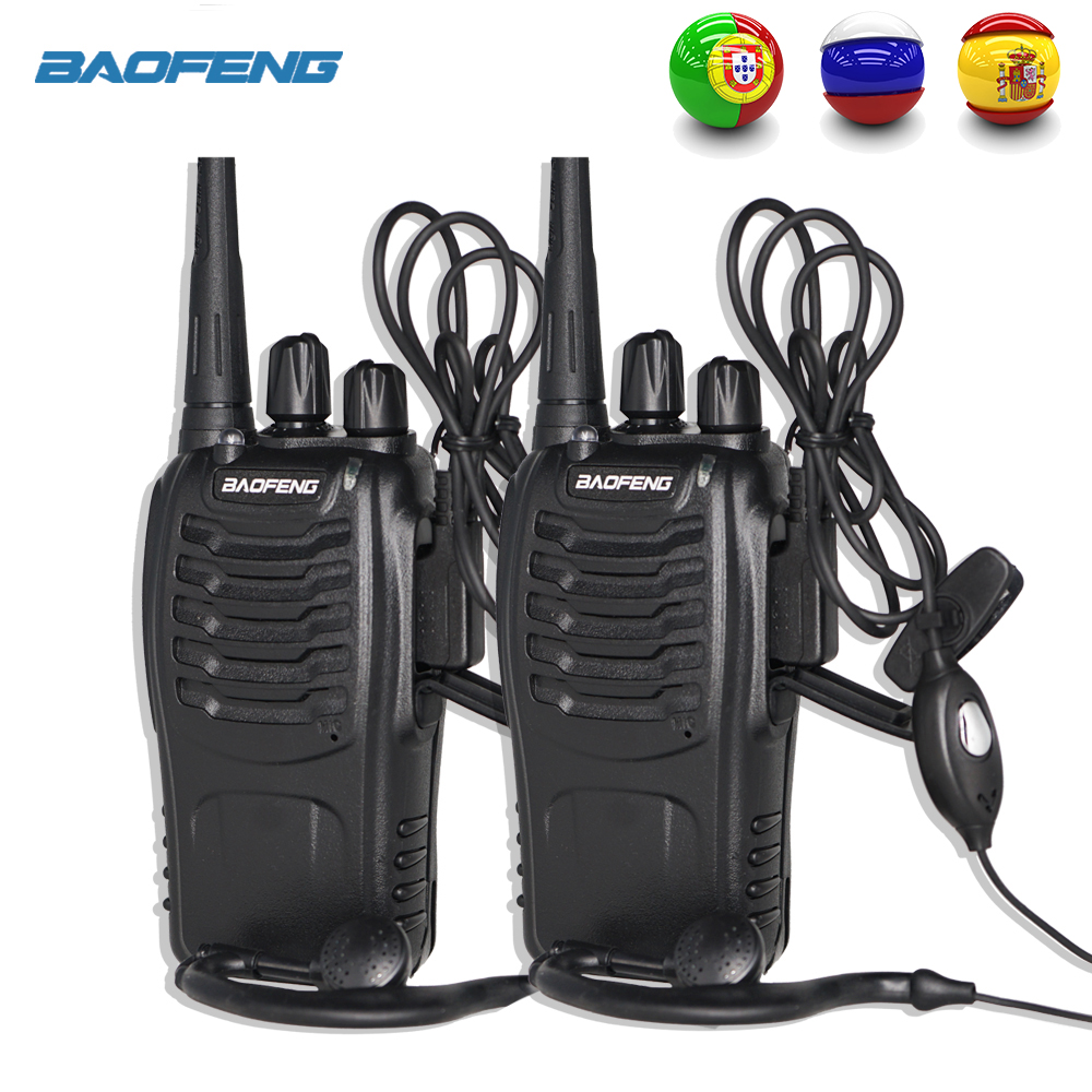 2PCS Baofeng BF-888S Walkie Talkie888S 6km Portable CB Ham Radio Handheld Two Way Radio HF Transceiver Wireless Intercom BF888S