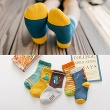 Kids Girls Boy Socks Dinosaur Unicorn Spring Baby Cartoon Cotton Summer 5-Pairs/Lot Knit