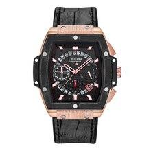 Relogio Masculino hommes montres haut de gamme marque affaires Hublo montre JEDIR décontracté étanche homme montre bracelet chronographe horloge