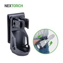 "NEXTORCH 360 Degree Tactical Flashlight Holster Angle Rotatable Tactical  Duable Flashlight Holder V5 for 1"" 1.25"" Flashlight"